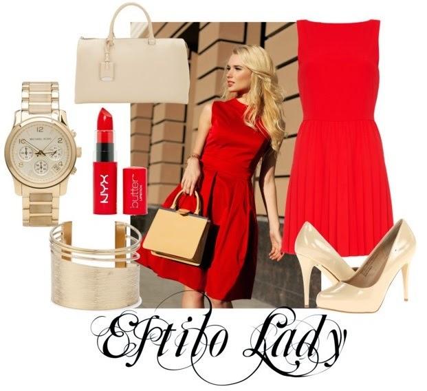 estilo, lady, vestir