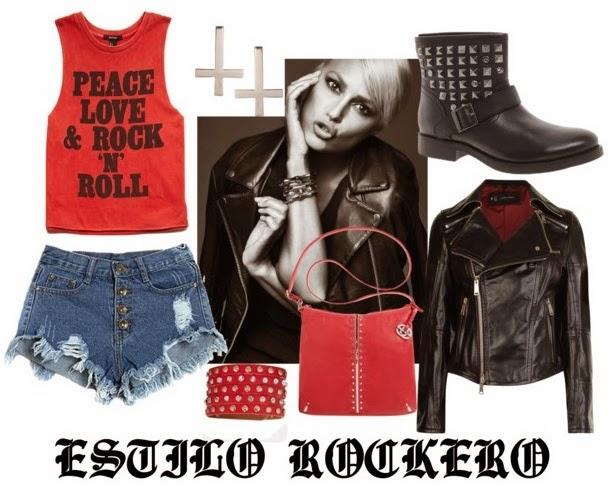 estilo, rock, rockero, piel, rojo