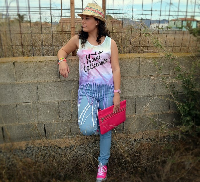 look, primark, flecos, boho, chic, casual, jeans, rosa, pink,Castellón, fashionblogger