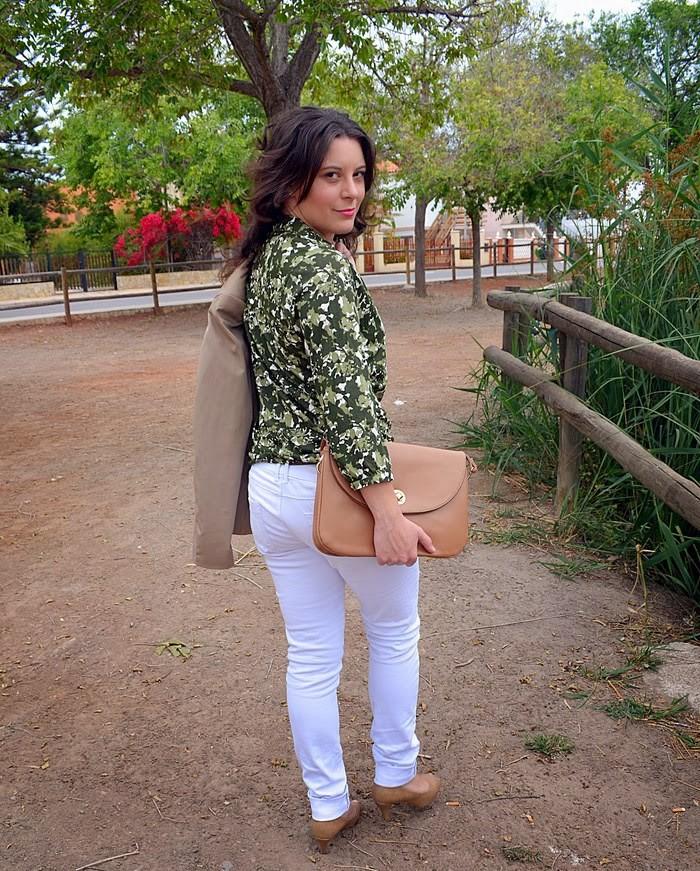 camuflaje, camuflage, patos, ducks, ripped jeans, estanque, playa de nules, fashion blogger, Castellón