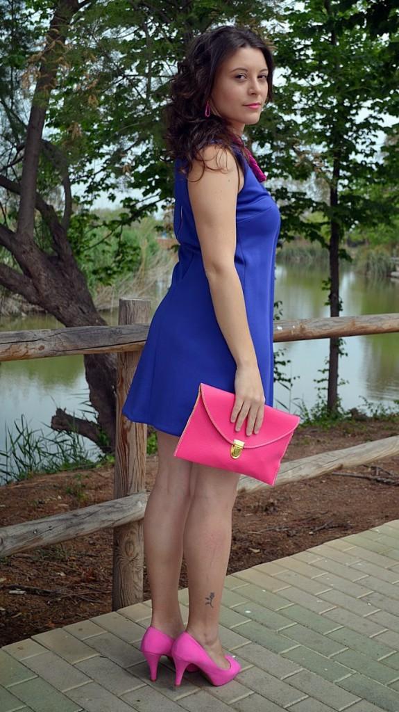 color blocking, choque de color, vestido, azul, rosa, primark, trendy accessories, fashion blogger, castellón, moda, estilo, fashion, dress, fashionista