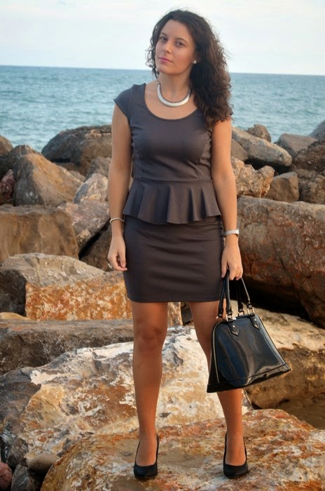 working girl, look trabajo, mi vestido azul, blog de moda, blogger castellón
