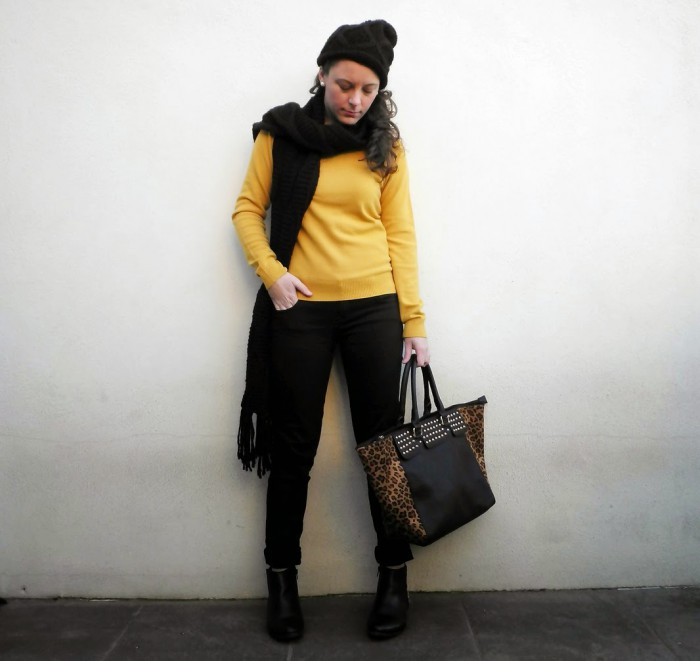 mostaza, animal print, mi vestido azul, fashion blogger, moda, castellón, valencia