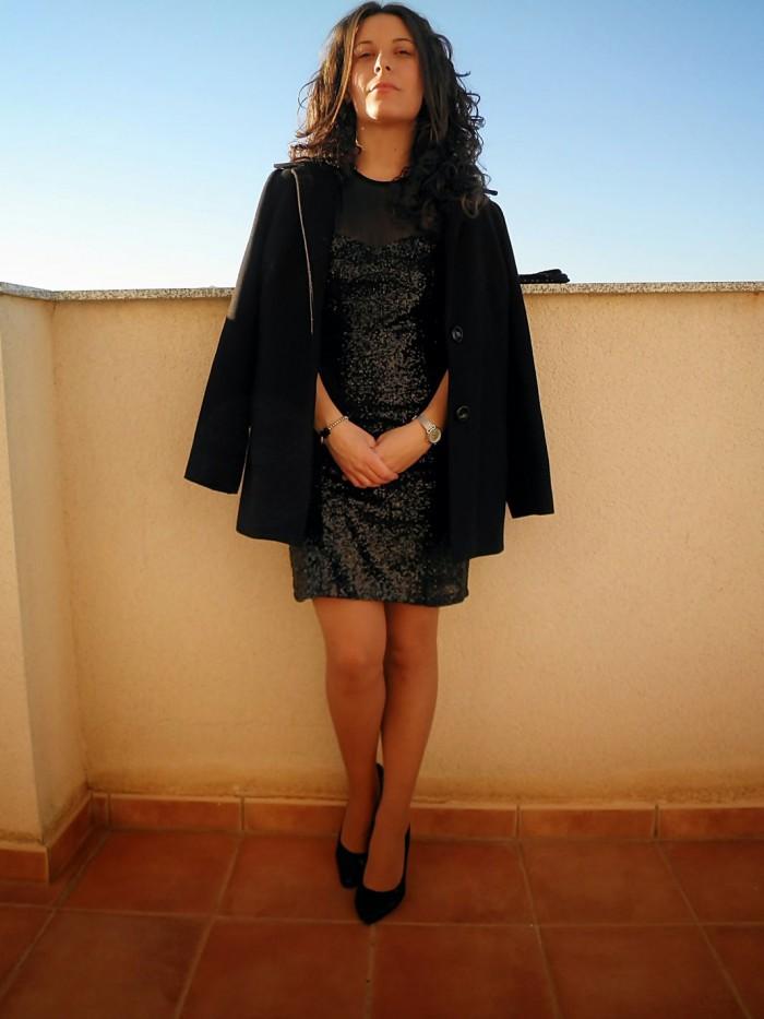 paillettes, nochevieja, look, mi vestido azul, blogger, castellón, blog de moda