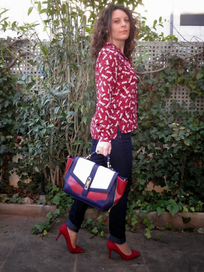 libelulas, burdeos, mi vestido azul, fashion blogger, moda, castellón, look, spain
