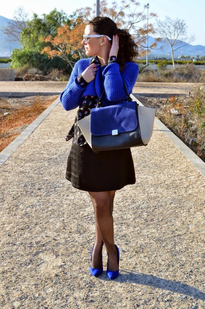 azul, blue, céline bag, fashion blogger, castellón, blog de moda, looks, outfits, spain, mi vestido azul, lourdes bueso
