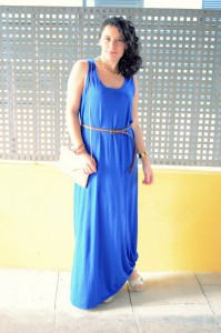 Mi Vestido Azul - Maxi blue dress (3)