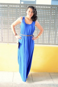 Mi Vestido Azul - Maxi blue dress (4)
