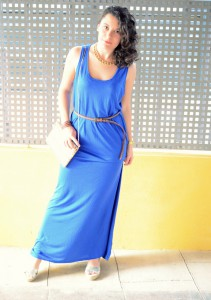Mi Vestido Azul - Maxi blue dress (5)