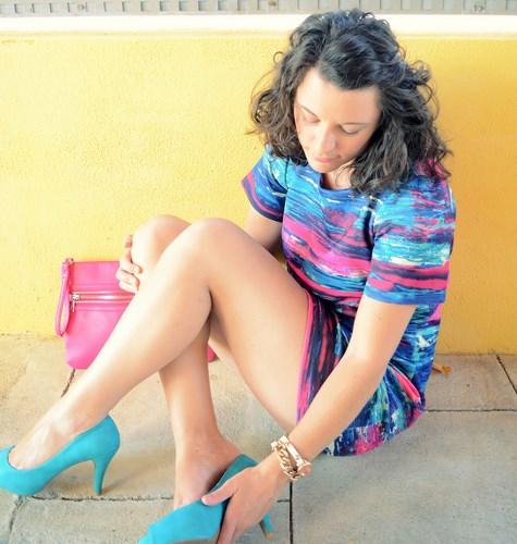 Mi vestido azul - Fuchsia and turquoise (1)