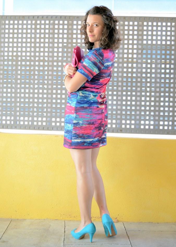 Mi vestido azul - Fuchsia and turquoise (11)