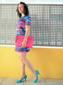 Mi vestido azul - Fuchsia and turquoise (6)