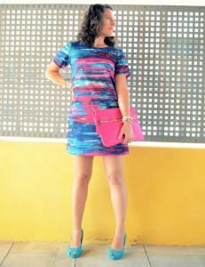 Mi vestido azul - Fuchsia and turquoise (7)