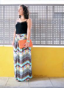 Mi vestido azul - Geometric long skirt (1)