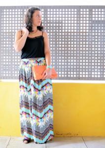Mi vestido azul - Geometric long skirt (3)