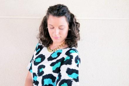 Mi vestido azul - Green animal print (4)