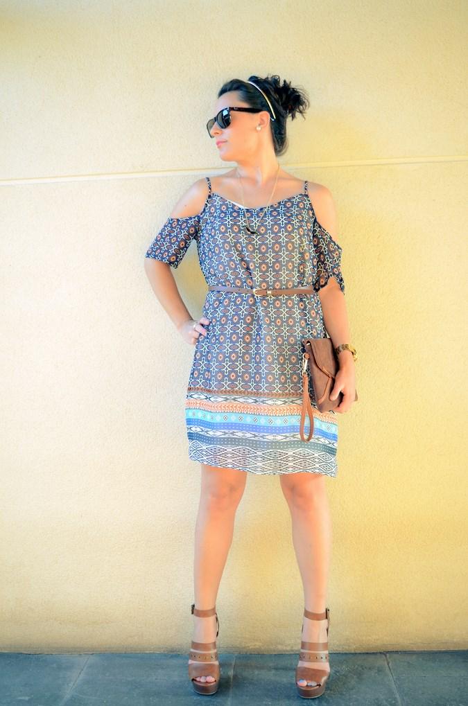 Mi vestido azul - Shoulder off dress (1)