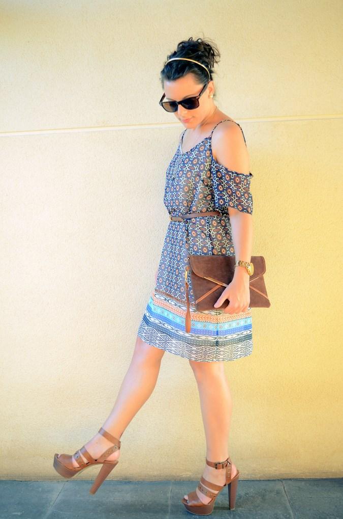 Mi vestido azul - Shoulder off dress (11)
