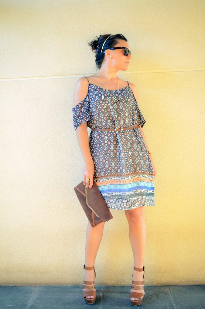 Mi vestido azul - Shoulder off dress (2)