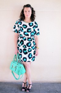 Mi vestido azul - Green animal print (10)