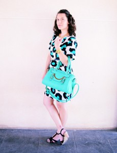 Mi vestido azul - Green animal print (6)