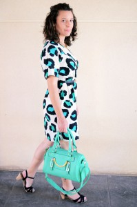 Mi vestido azul - Green animal print (8)