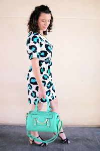 Mi vestido azul - Green animal print (9)