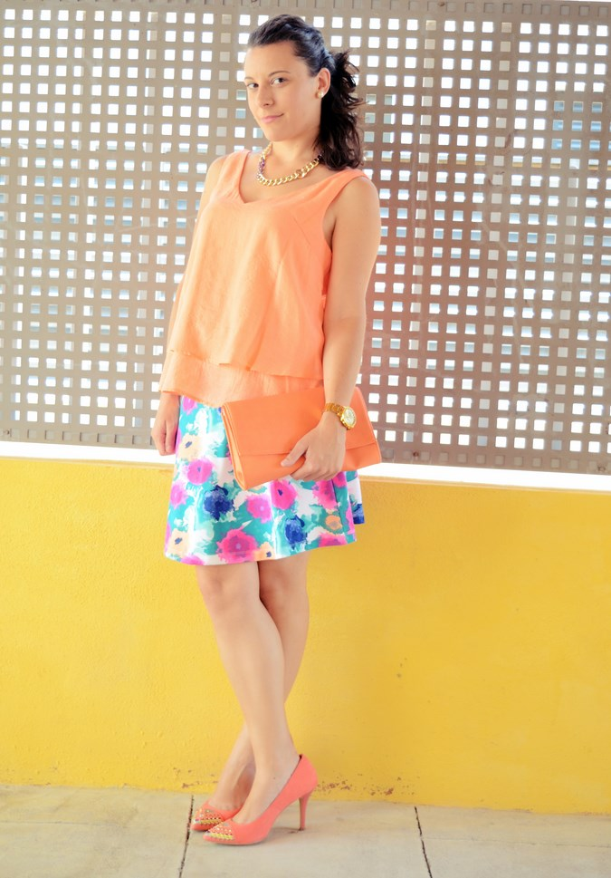Mi vestido azul - Orange & flowers (3)