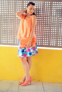 Mi vestido azul - Orange & flowers (4)
