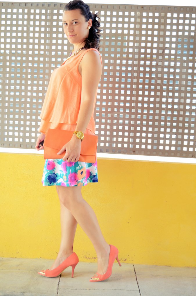 Mi vestido azul - Orange & flowers (5)