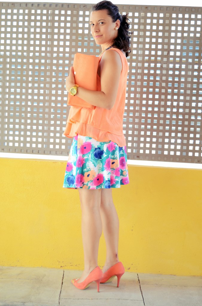 Mi vestido azul - Orange & flowers (6)