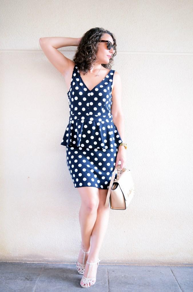 Mi vestido azul - Working girl - Polka Dots (1)