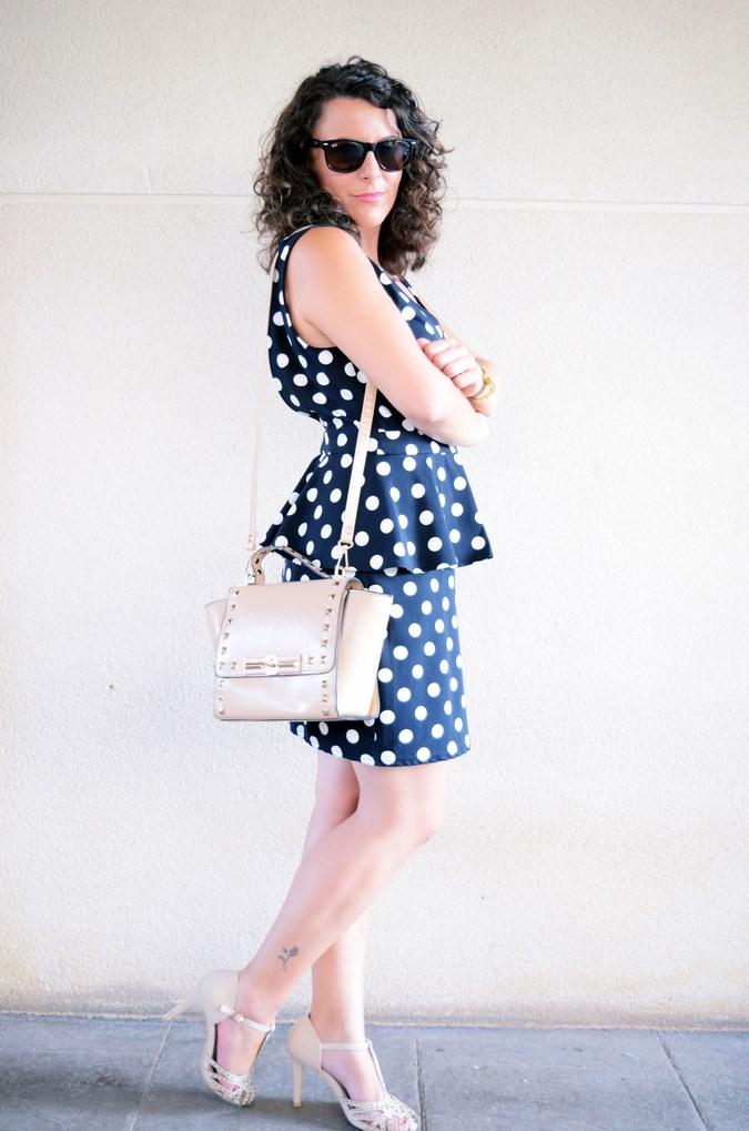 Mi vestido azul - Working girl - Polka Dots (10)