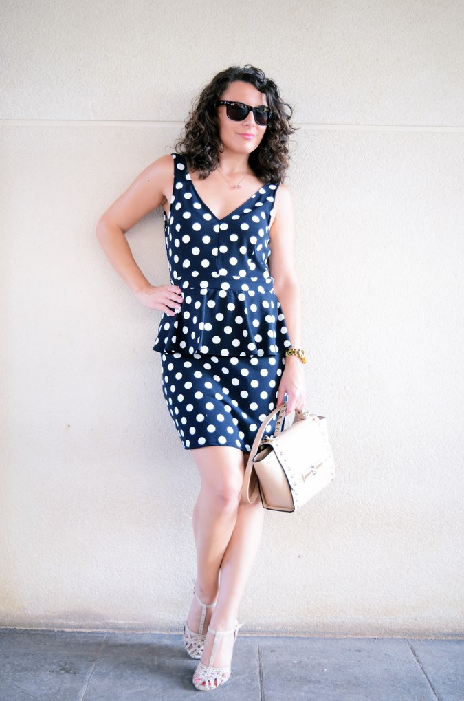 Mi vestido azul - Working girl - Polka Dots (11)