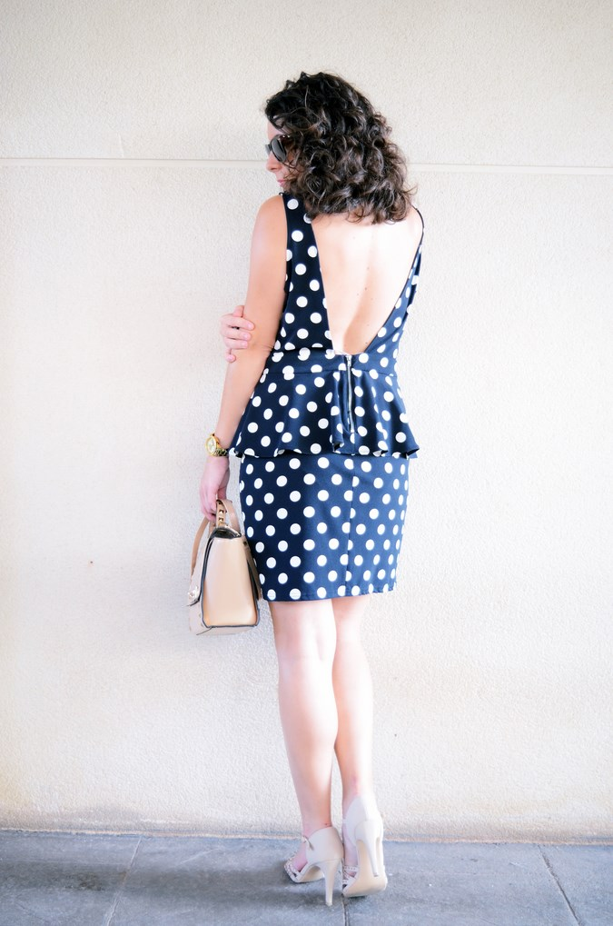 Mi vestido azul - Working girl - Polka Dots (2)