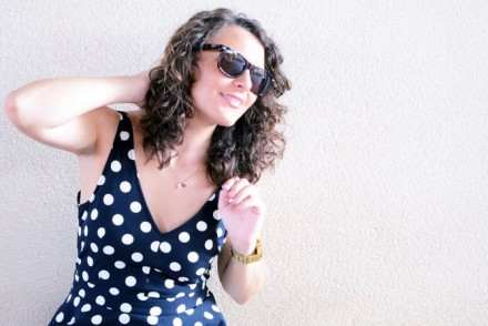 Mi vestido azul - Working girl - Polka Dots (4)