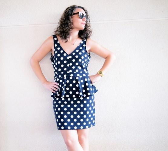 Mi vestido azul - Working girl - Polka Dots (6)