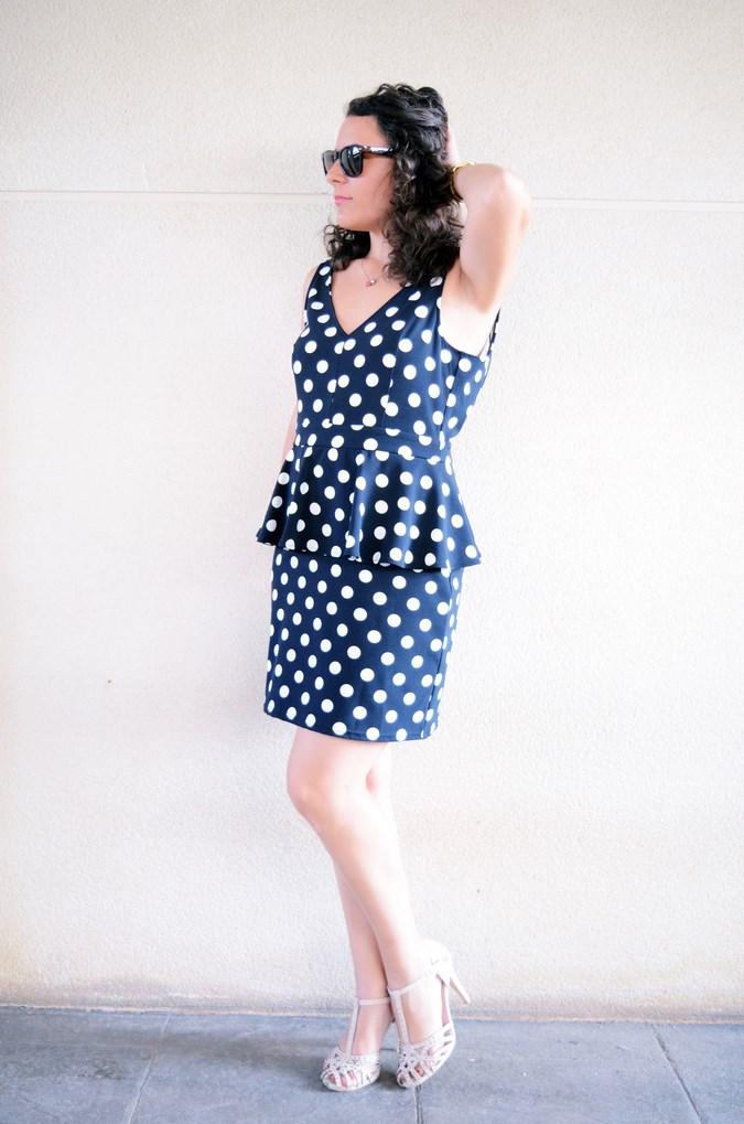 Mi vestido azul - Working girl - Polka Dots (7)