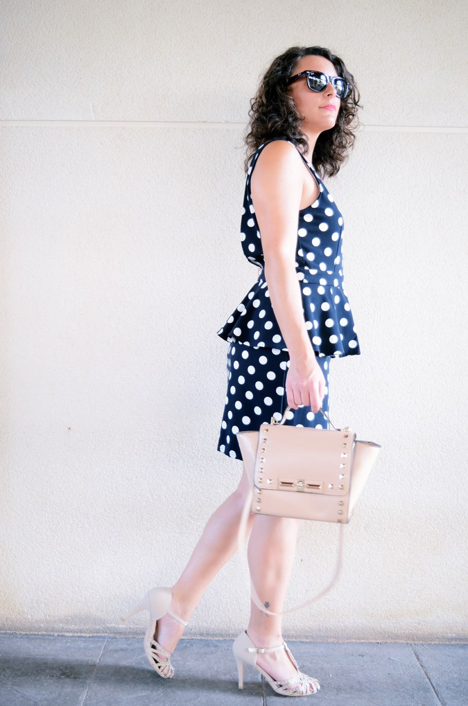 Mi vestido azul - Working girl - Polka Dots (8)