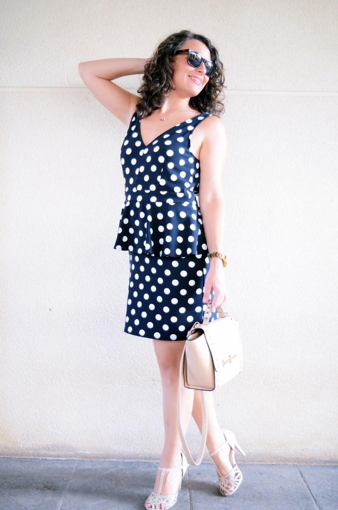 Mi vestido azul - Working girl - Polka Dots (9)