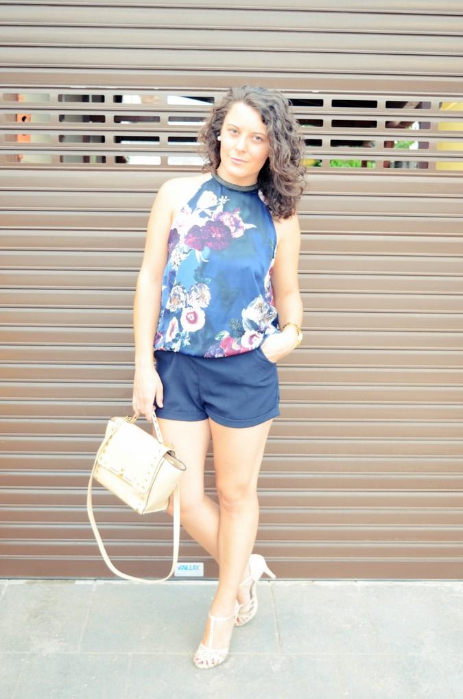 Mi vestido azul - Flower Mini Jumpsuit (3)
