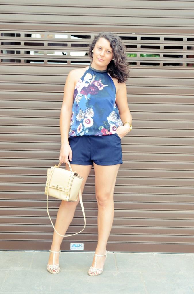 Mi vestido azul - Flower Mini Jumpsuit (4)