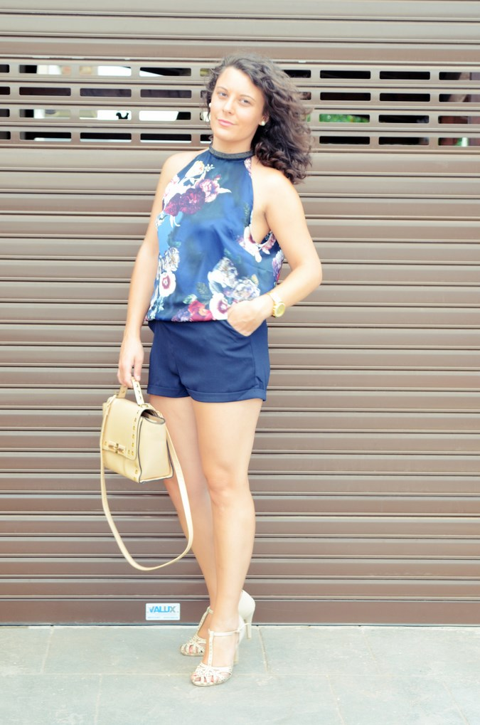 Mi vestido azul - Flower Mini Jumpsuit (7)