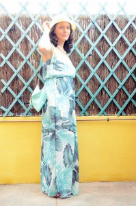 Mi vestido azul - Palms maxi dress (2)