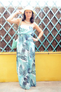 Mi vestido azul - Palms maxi dress (3)