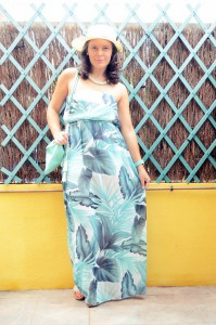 Mi vestido azul - Palms maxi dress (4)