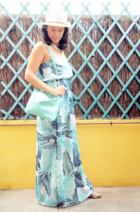 Mi vestido azul - Palms maxi dress (5)