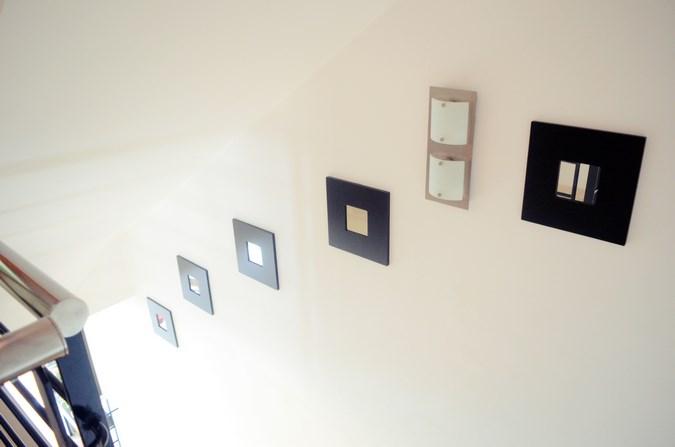Decorar una escalera con espejos (6)