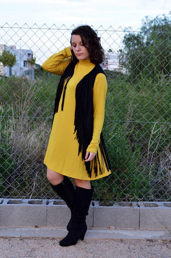 Mustard & Fringed vest (10)