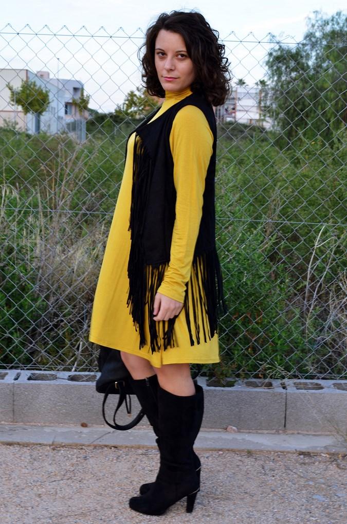 Mustard & Fringed vest (6)
